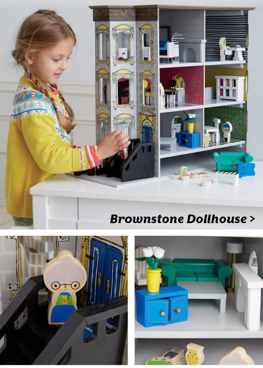 Shop Brownstone Dollhouse Set