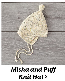 Misha and Puff Knit Hat